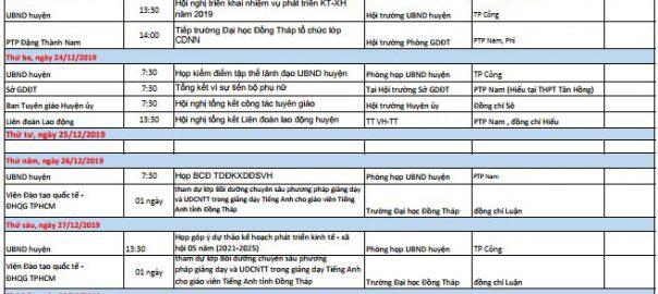 LICH CONG TAC 23-12-2019 DEN 27-12-2019